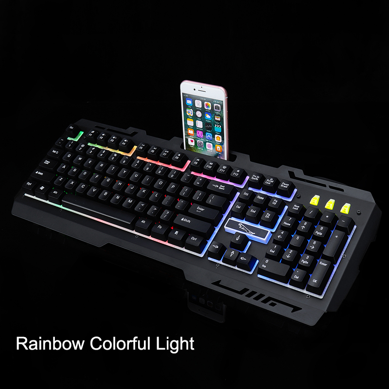 G700 104 Keys USB Wired Mechanical Hand-feel Gaming Keyboard and 2400DPI Mouse Combo Set
