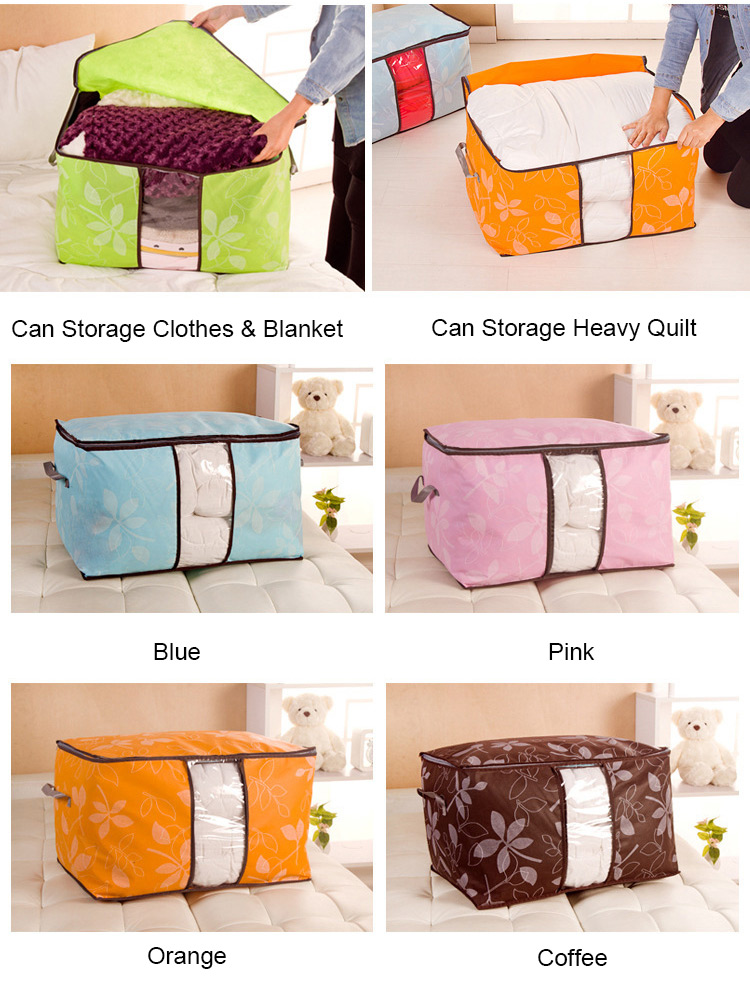 Honana HN-0922 Non-woven Quilts Storage Boxes Clothes Storage Bags Home Organization Bags