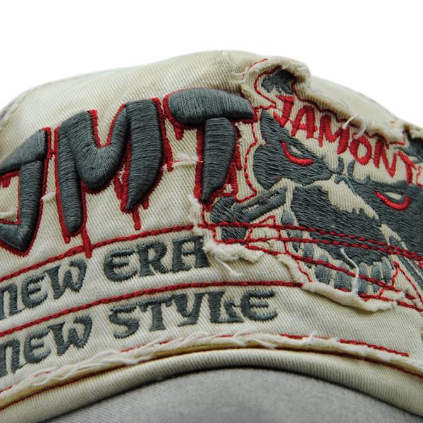 Unisex Cotton Washed Skeleton Embroidery Baseball Cap
