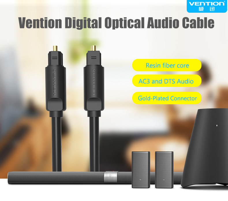 Vention Optical Audio Cable Toslink Digital SPDIF Cable For Blue Ray CD DVD Player Xbox 360 PS3