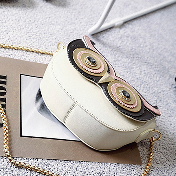 Owl Pattern Women Shoulder Bags Small Chain Crossbody Bags