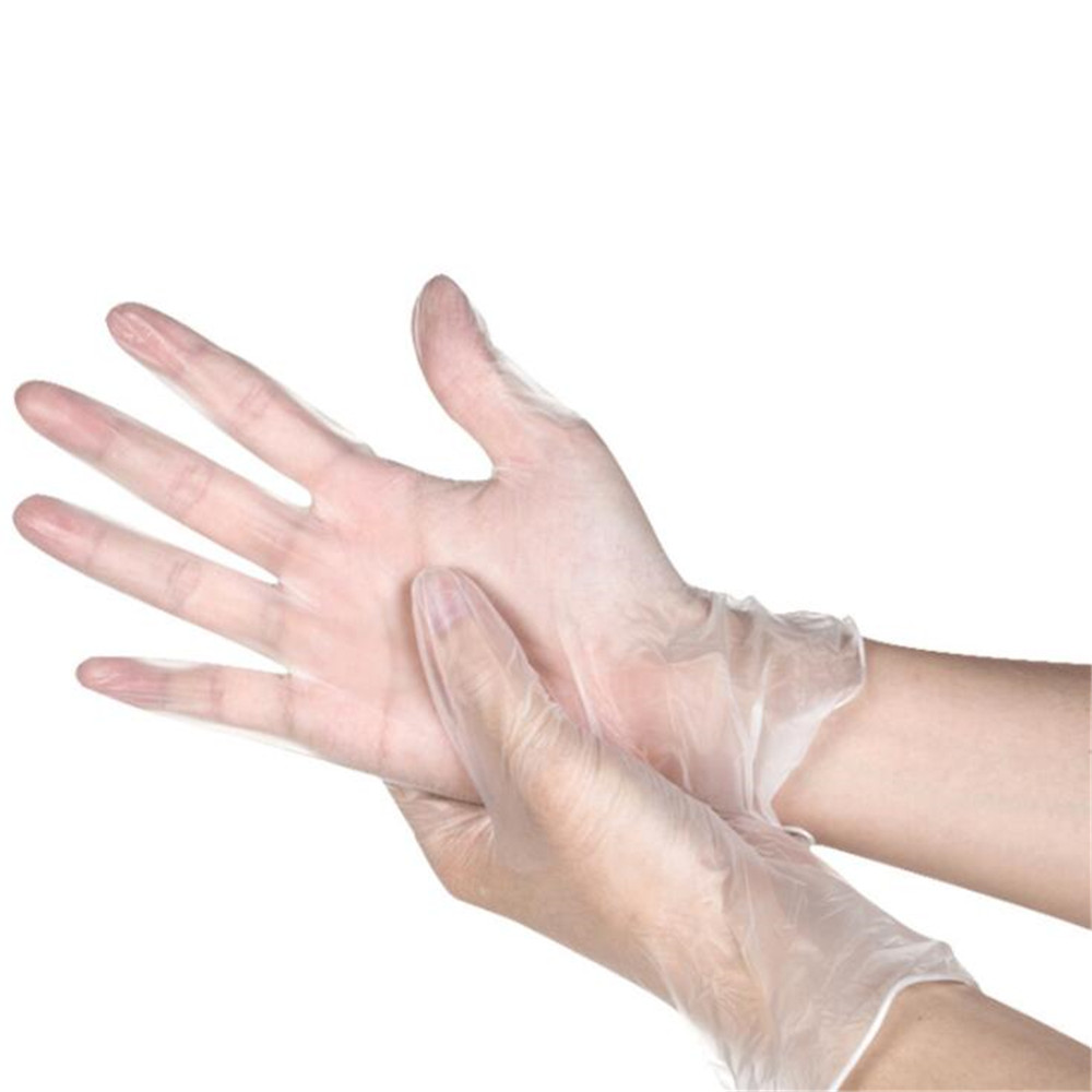 100Pcs Disposable Vinyl Gloves PVC For Housework Clean Hypoallergenic Multifuction Transparent Glove