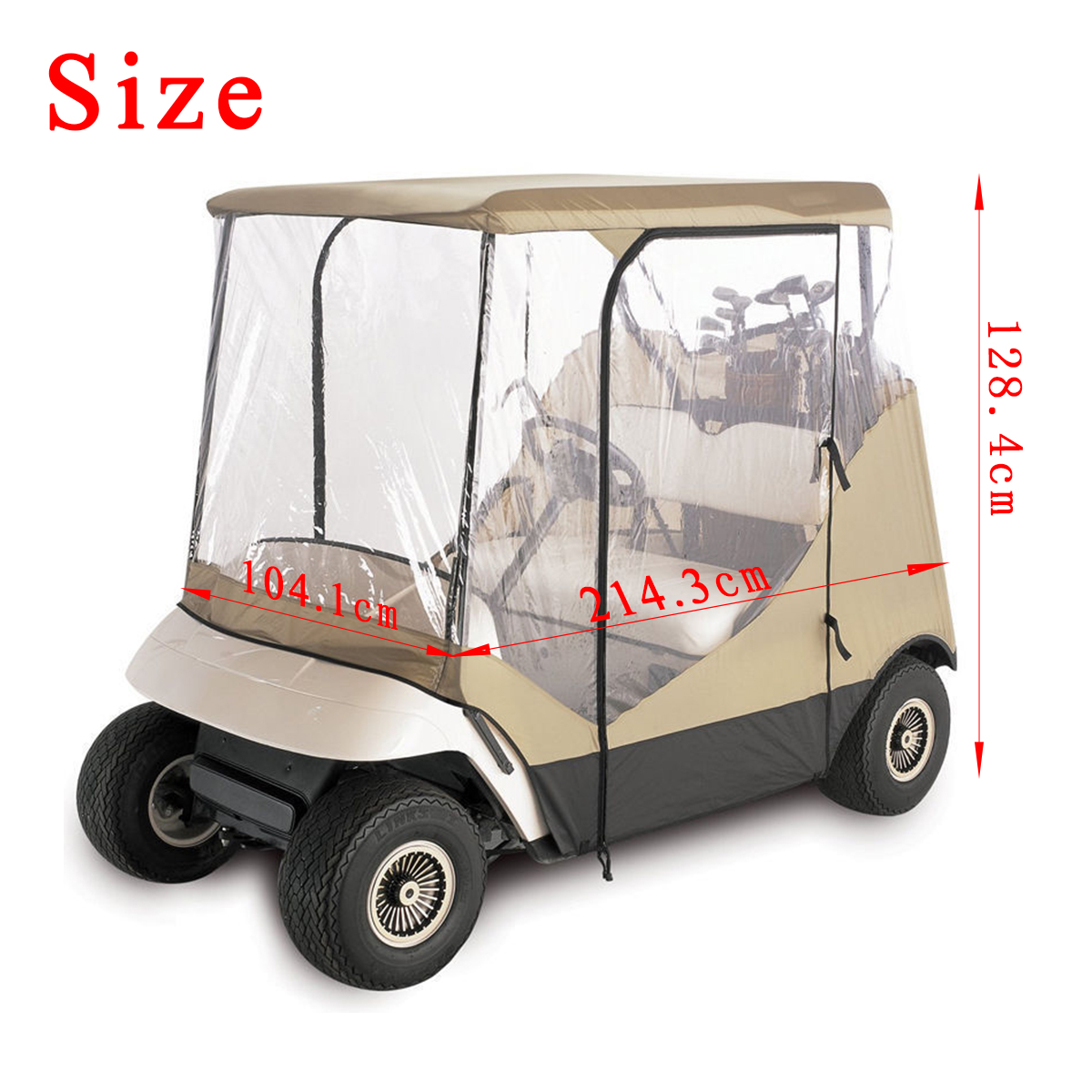 210D Oxford Cloth+PVC Golf Cart Cover Rain 2 Passenger For Club Car Classic Accessories