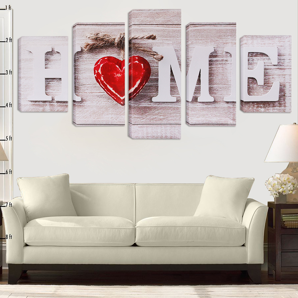 5 Pcs Unframed Canvas Print Paintings Picture Home Bedroom Wall Art Decor Gifts