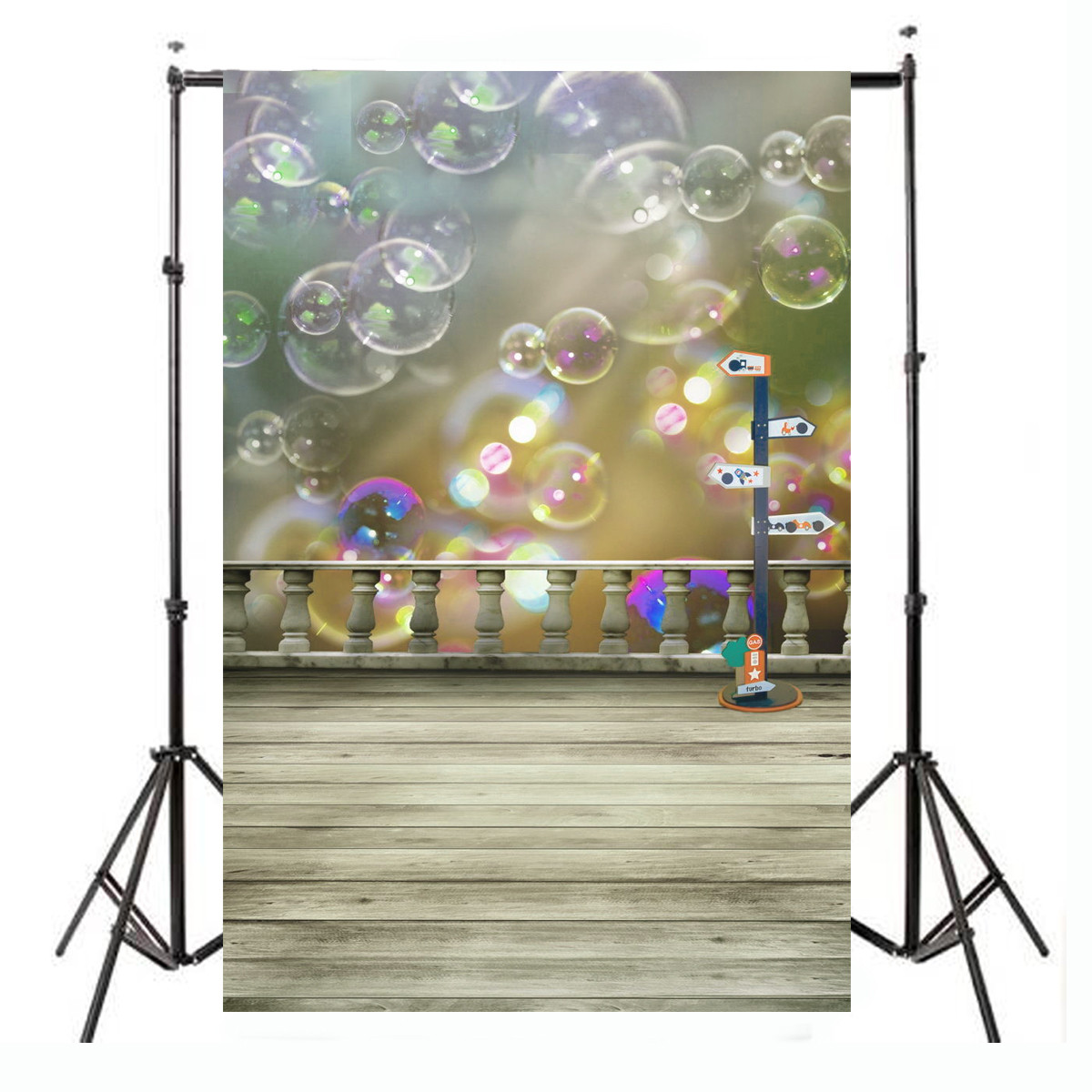 3x5Ft Cloth Colorful Cute Bubbles Floor Studio Backdrop Photography Prop Background