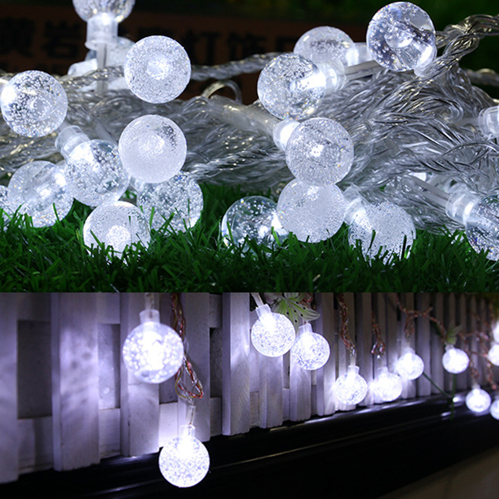 KCASA 2M 20 LED Bubble Ball String Lights LED Fairy Lights for Festival Christmas Halloween
