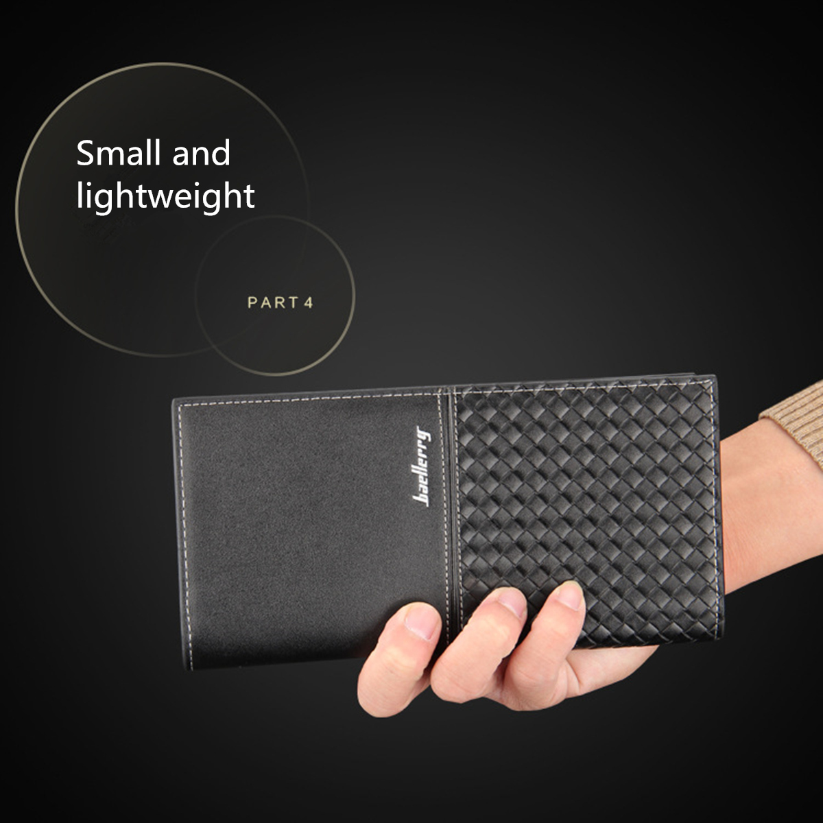 Men Leather Long Wallet Bifold Card Holder Billfold Clutch Purse Zipper Pocket Phone Bag Case