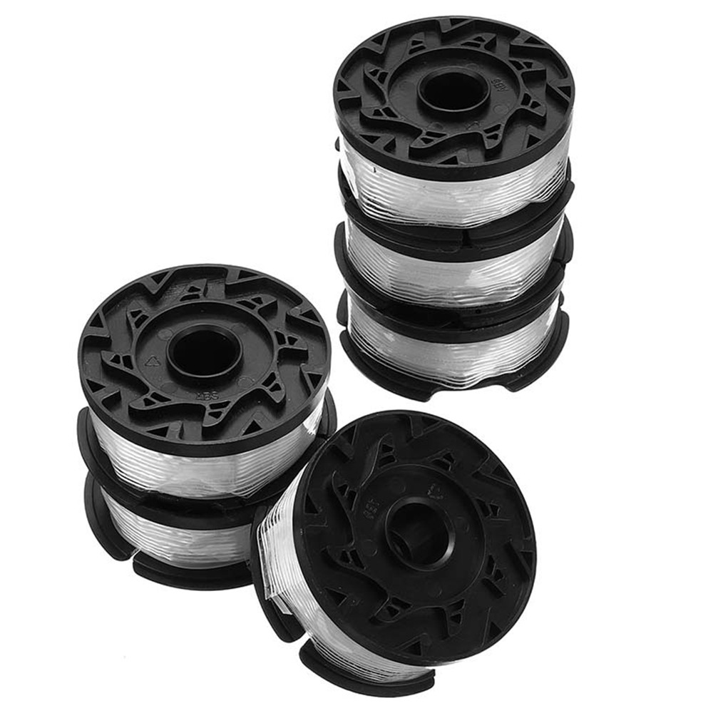6pcs 30ft Trimmer Line Replacement Spool Cap Cover Spring For Black And Decker String Trimmers