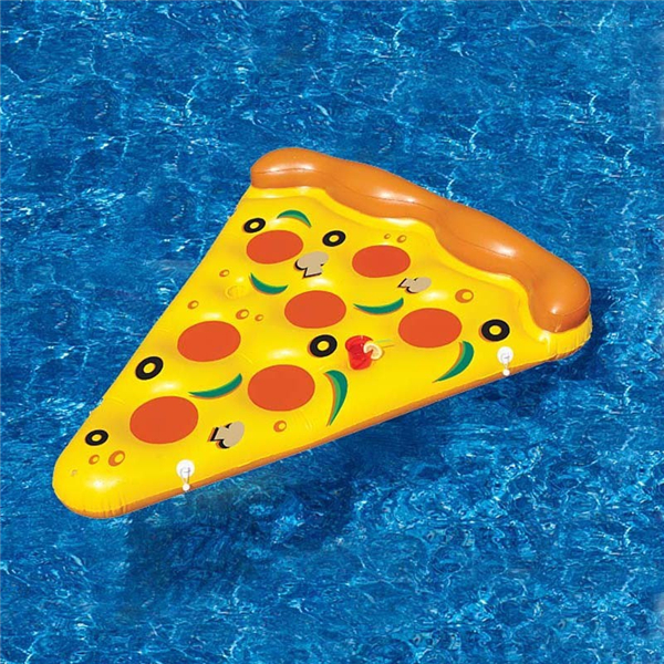 180X150cm Summer Inflatable Pizza Flotating Bed Swimming Air Mattress PVC Pool Lounge Seat Boating