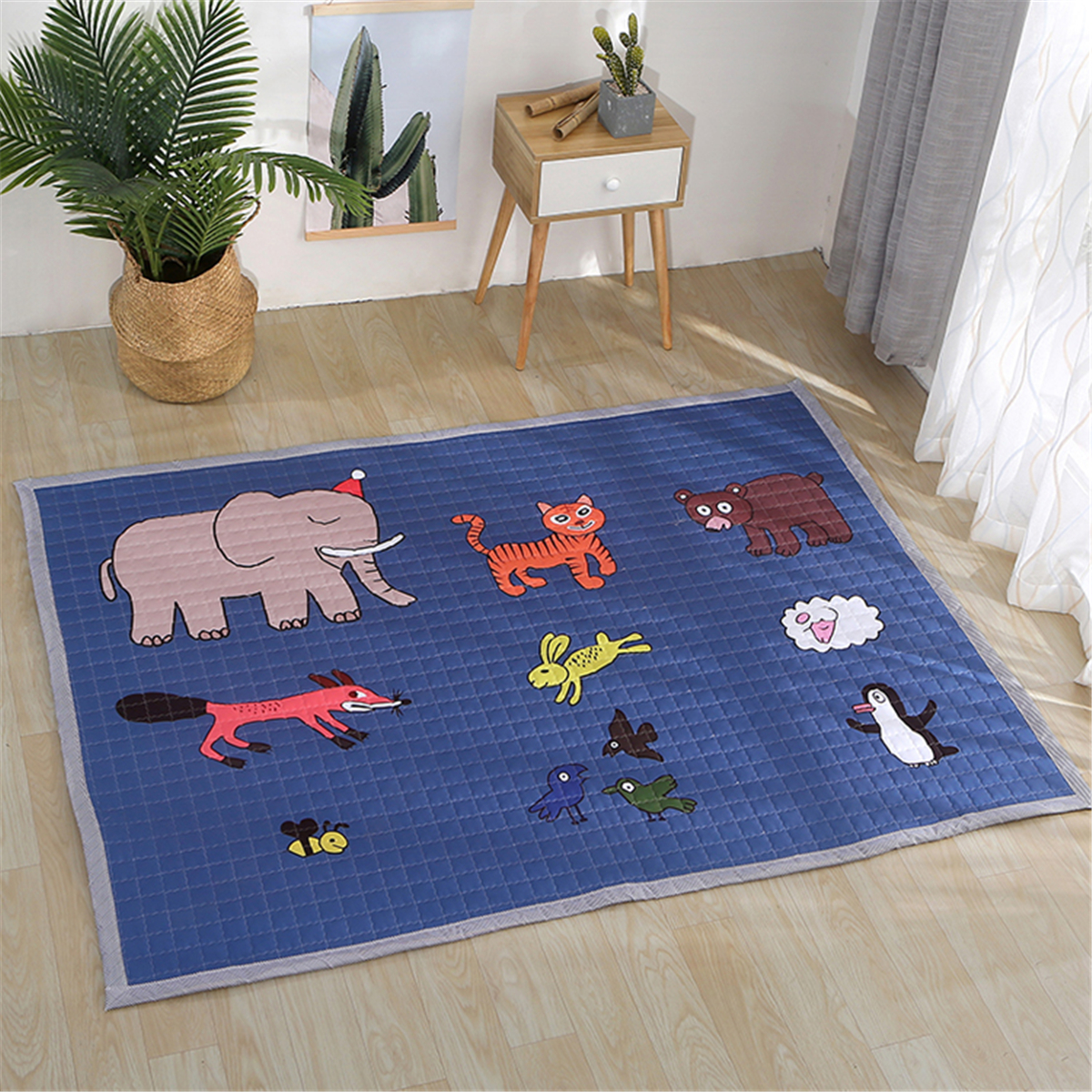 Polyester Baby Play Mat Crawling Kids Game Gym Activity Carpet Blanket Floor Rug