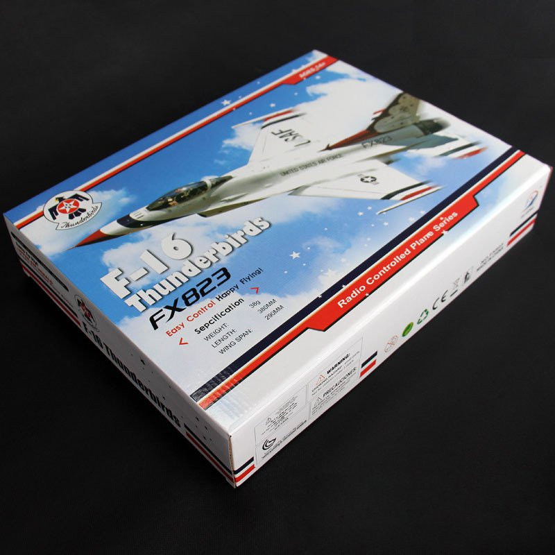 Fly bear FX-823 2.4G 2CH F16 Thunderbirds EPP RC Glider Airplane RTF Mode 2