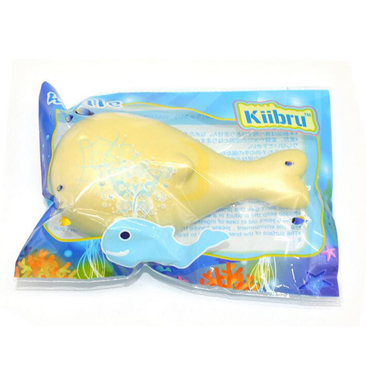 15cm Whale Squishy Slow Rising Pressure Release Soft Toy With Keychains for Iphone Samsung Xiaomi