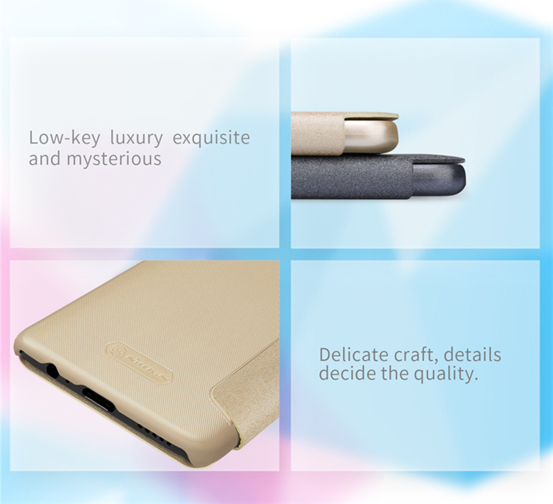 NILLKIN Ultra Thin Smart Sleep Shockproof Flip PC Leather Protective Case For Oneplus 6