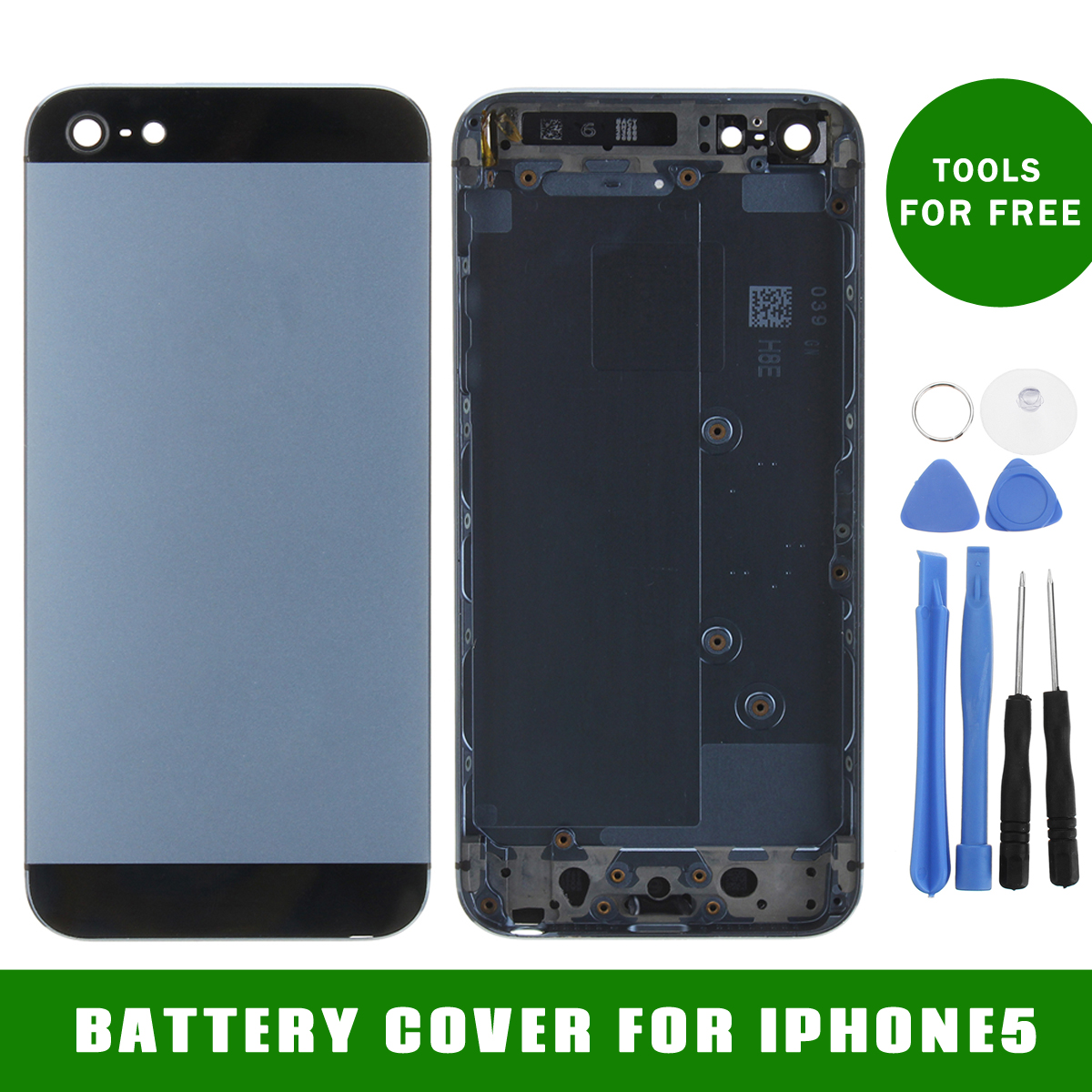 Metal Replace Battery Rear Panel Back Cover Case + Tool for iPhone 5