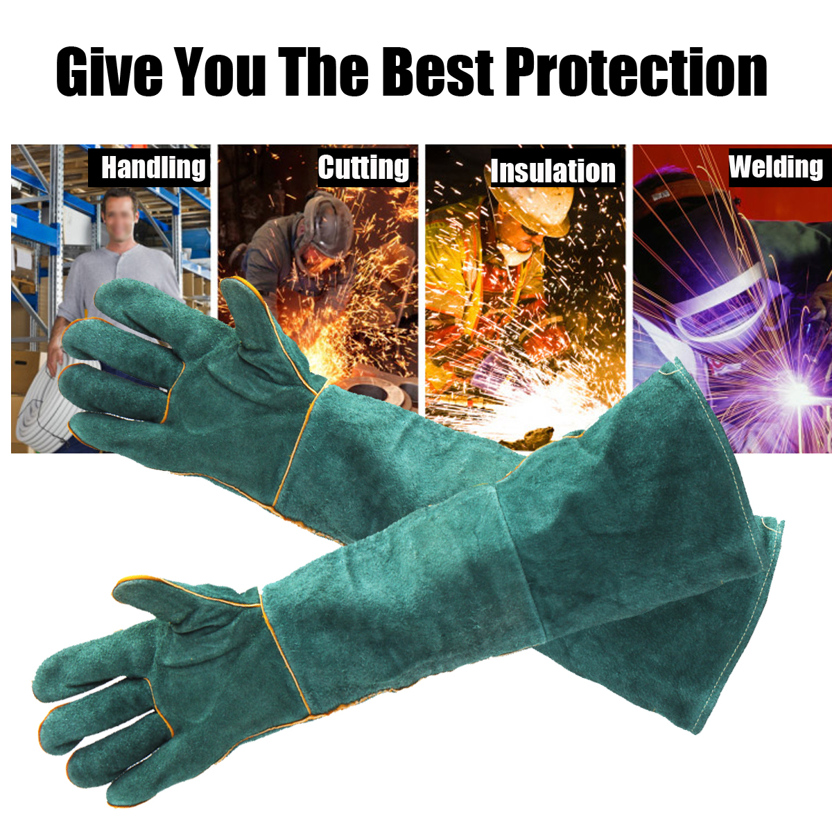 Protective Work Gloves Anti-scratch Anti-bite Mittens Against Reptile Cat Dog Snake