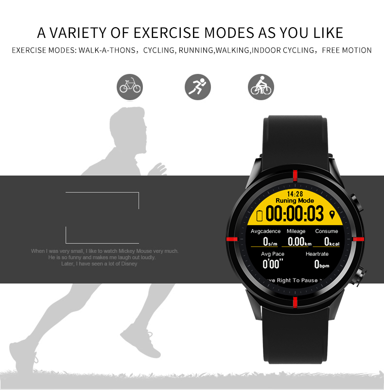 Bakeey GW12 1.3inch MT2503 Heart Rate Monitor GSM GPS Fitness Tracker Sport bluetooth Smart Watch