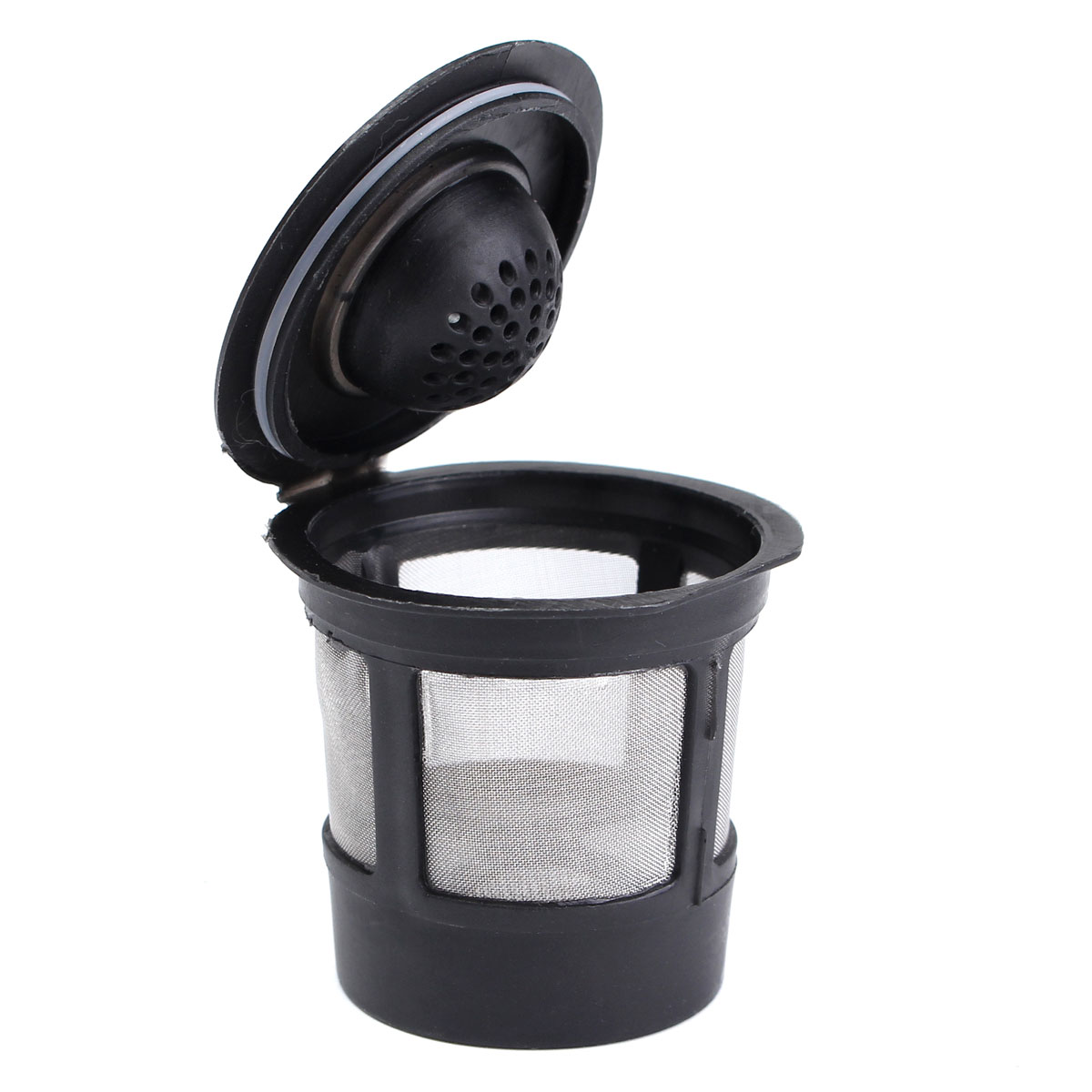 1Pcs Stainless Mesh Black Reusable Single Cup Keurig Solo Filter Pod K-Cup Coffee