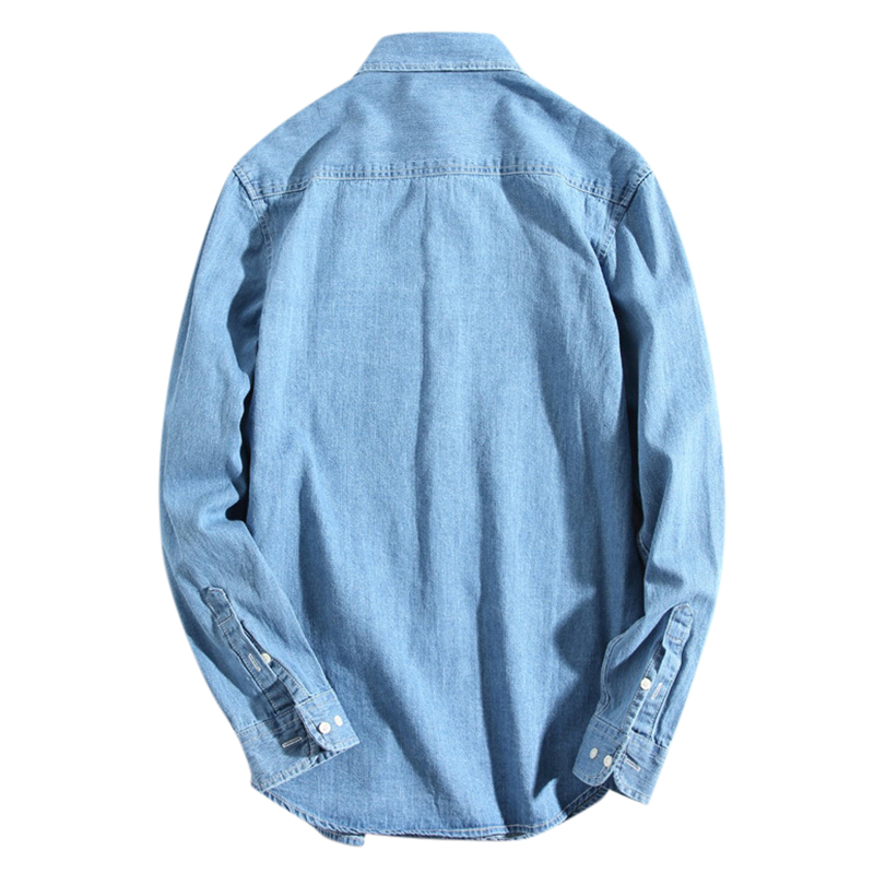 Fashion Solid Color Long Sleeve Vintage Casual Shirts
