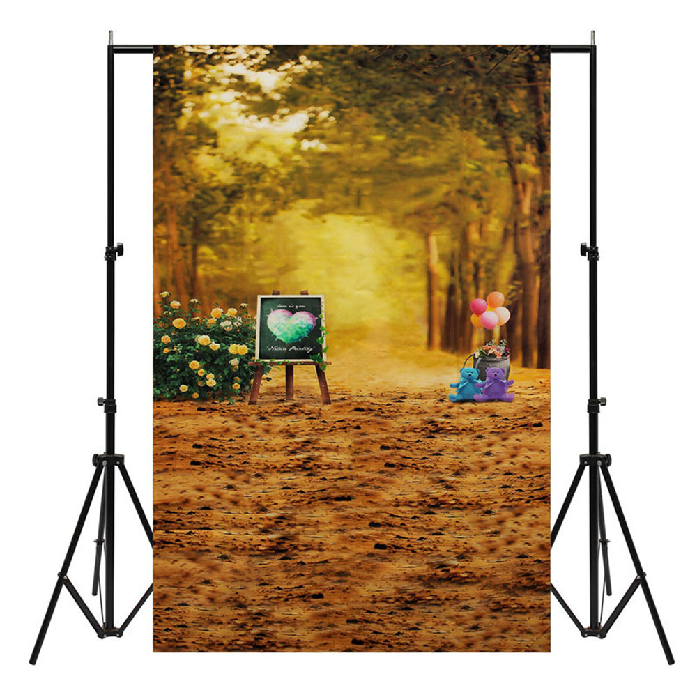 3x5FT Golden Woods Autumn Photography Backdrop Studio Prop Background