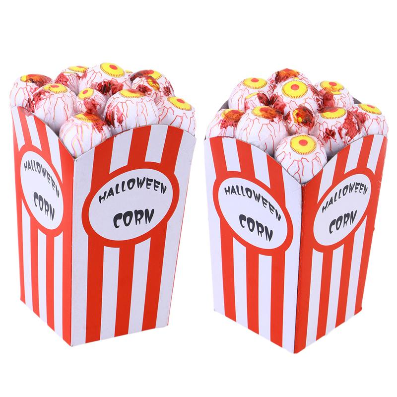 Halloween Decorations Treat or Trick Toys Funny New Bar Haunted House Simulation Eye Popcorn