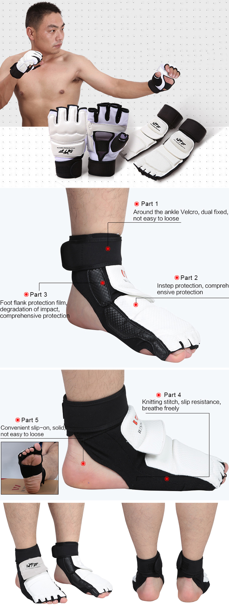 Sports Ankle Support Taekwondo Instep Protective Safety Gears Outdoor Sport Training Protector Equipment