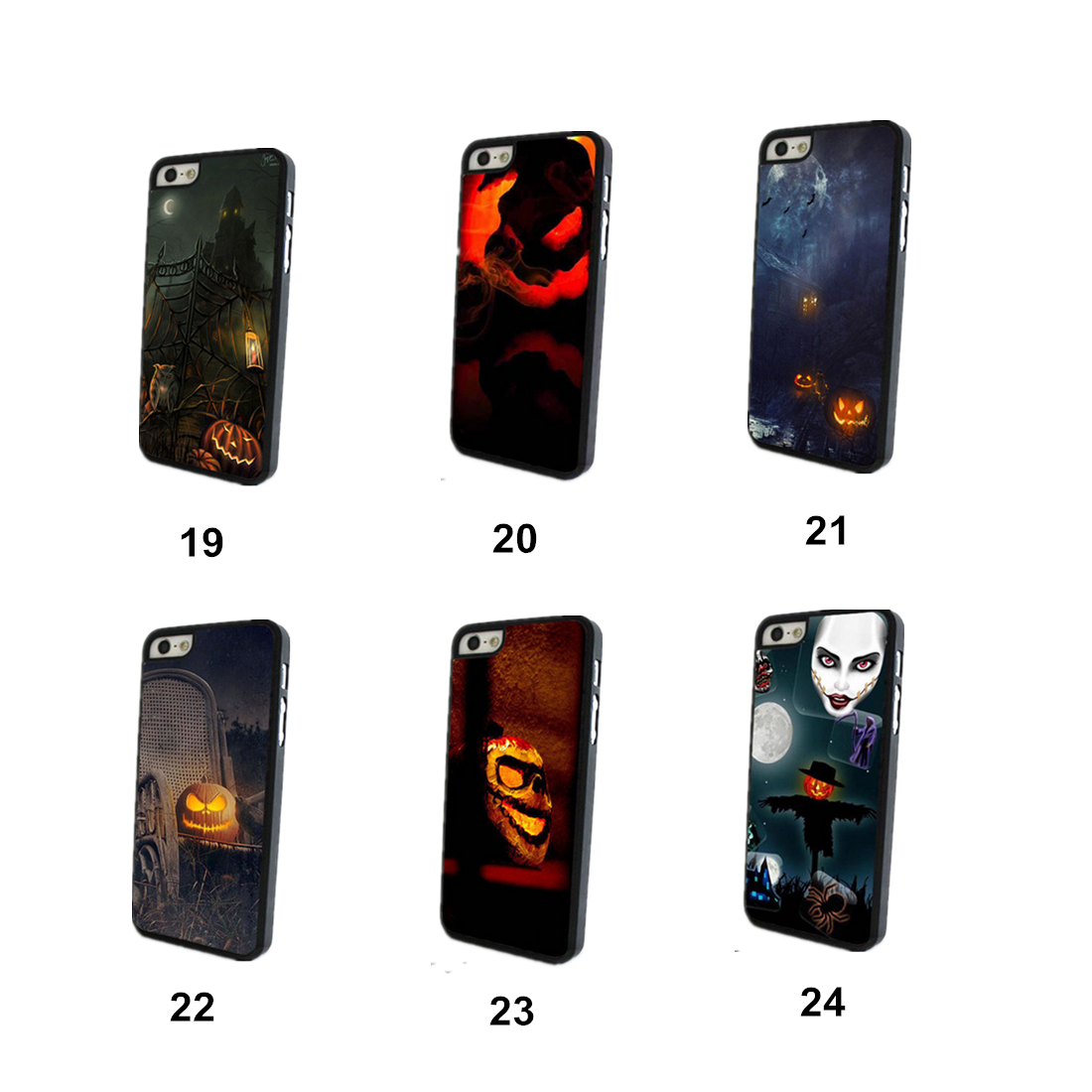 Halloween Protective Case TPU Soft Back Cover For iPhone 5 5S