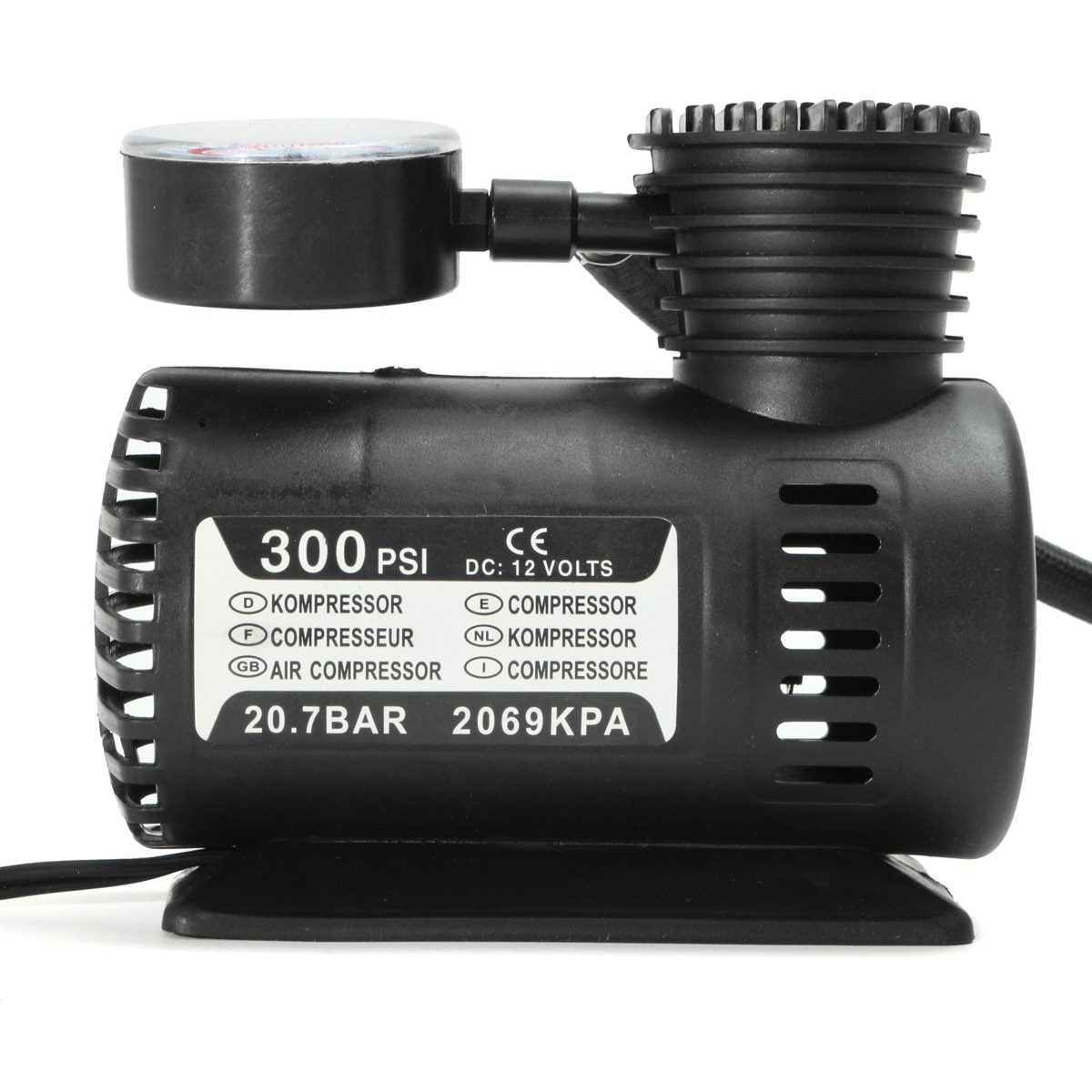DC 12V 300Psi Portable Air Compressor Pump Tyre Inflator Electric Portable Pressure Pump