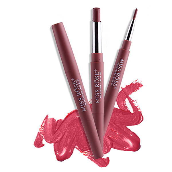 MISS ROSE Double-end Lipstick Pencil & Lip Liner