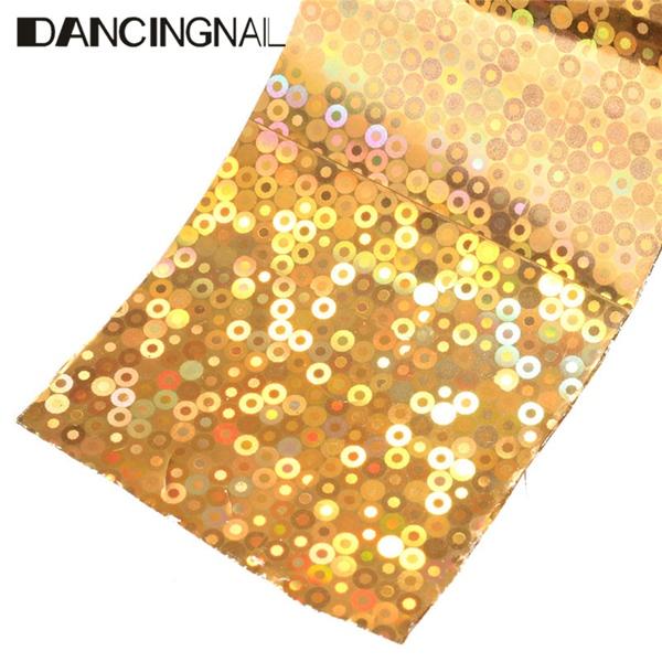 1 Roll 4CM X 110M Starry Starry Shiny Halo Nail Transfer Foil Sticker Manicure Decoration Paper
