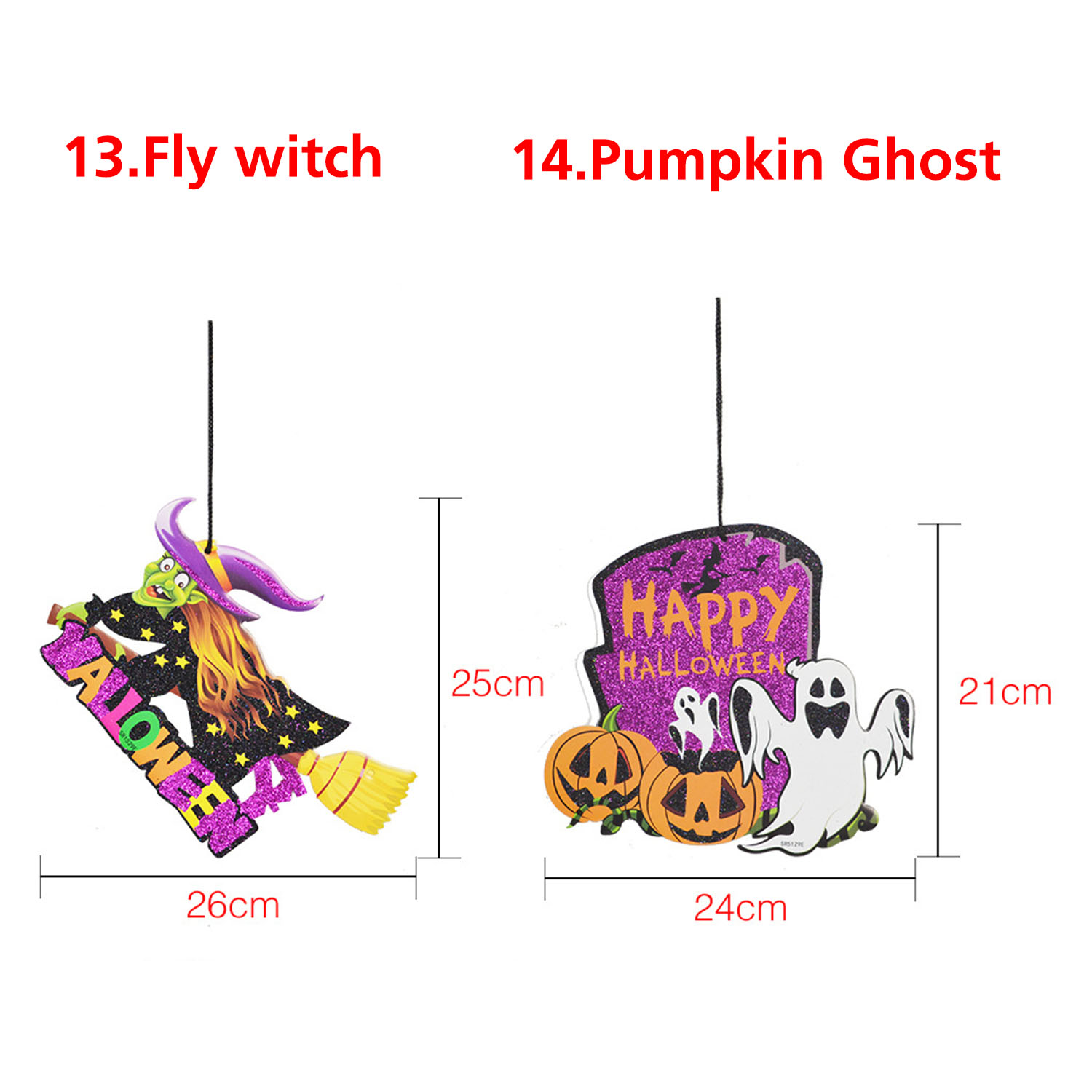 Halloween Spoof Hanging Decorations Pumpkin Ghost Skull Witch Door Hanger Halloween Supplies