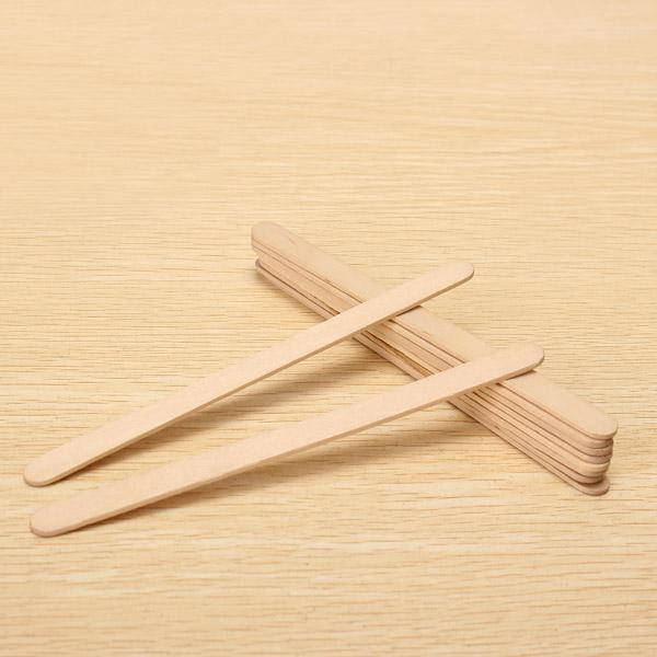 50Pcs A Bundle of Ice Cream Sticks 140 * 10 * 2 mm Ecru Popsicle Sticks
