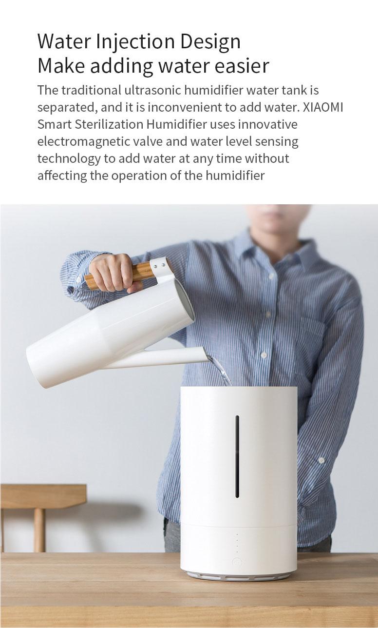 XIAOMI Smartmi CJJSQ01ZM Sterilization Ultrasonic Humidifier Air Humidifier Wifi Remote Control Air Aroma Humidifier Electric Aromatherapy Essential Oil Diffuser
