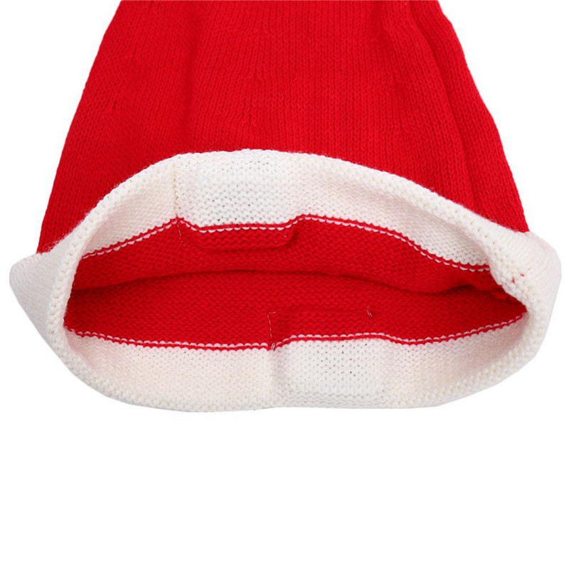Universal Christmas Hat Knit Red Hat Warm Cap Christmas Gifts Music bluetooth Earphone Headphone