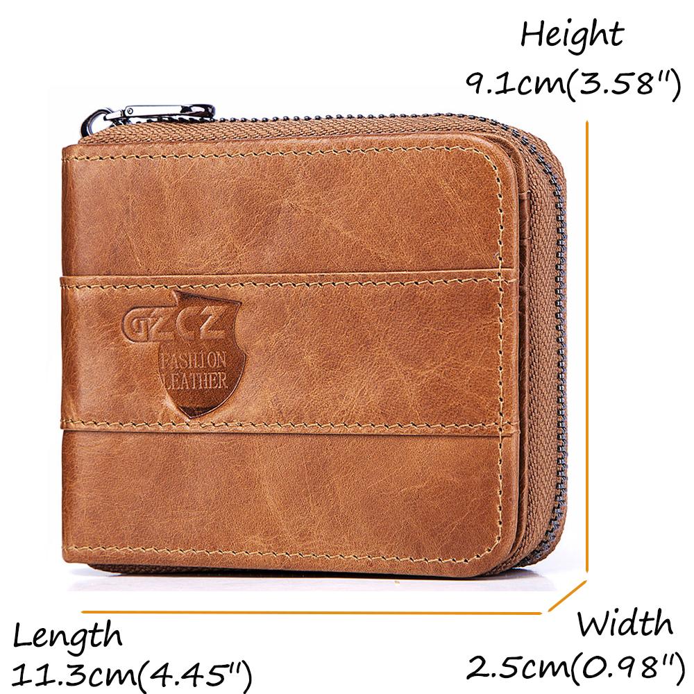 Men RFID Antimagnetic Genuine Leather Vintage Fashion 13 Card Slots Coin Bag Wallet