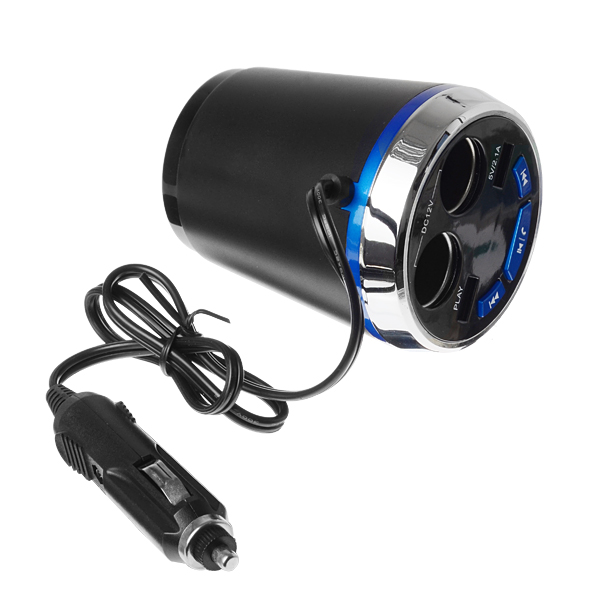 Multifunctional Car Cigarette Lighter Dual Usb Charger bluetooth Car Kit Hands Free