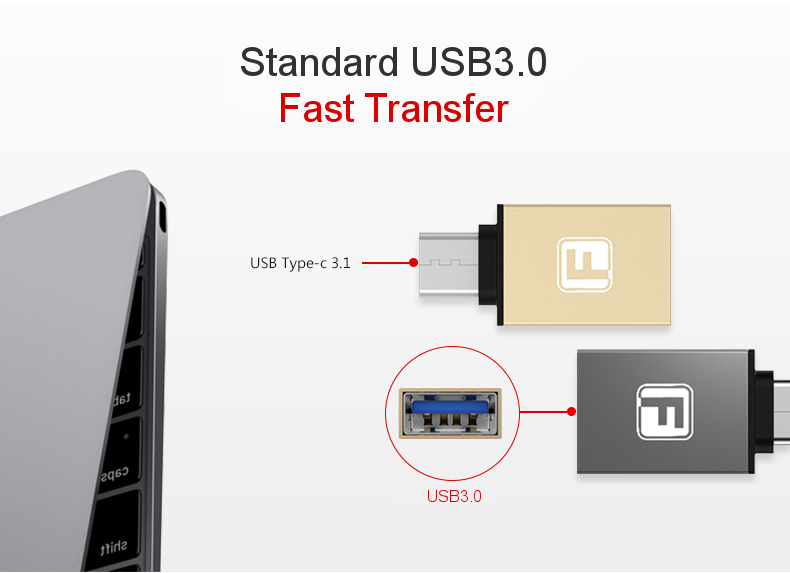 FANBIYA USB3.1 Type-C to USB3.0 OTG Adapter For Macbook HUAWEI Nexus Xiaomi Google Pixel