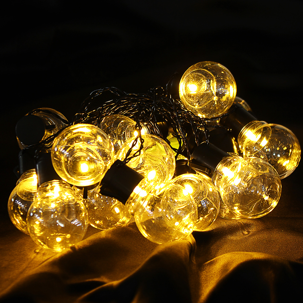 2.5M 5M AC220V Outdoor Waterproof Warm White LED Globe Bulb String Light for Patio Garden Home Decor