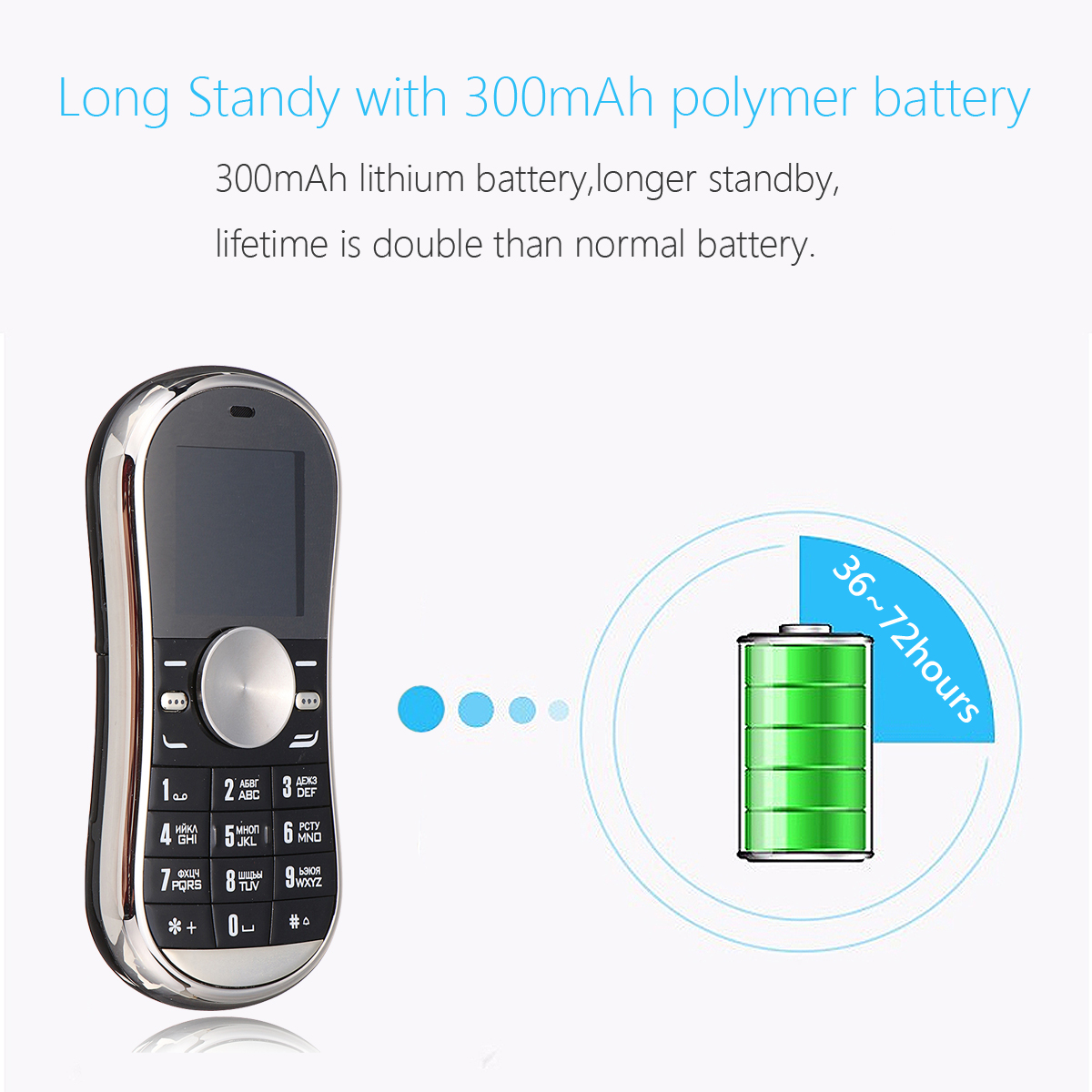 Servo S08 1.3'' 300mAh bluetooth Dual SIM Fidget Spinner Finger Gyro Reduce Stress Feature Phone