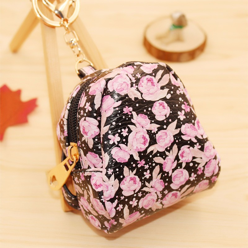 Floral Mini Change Keys Car Handbag Key Chain Ring Gift Fine Jewelry