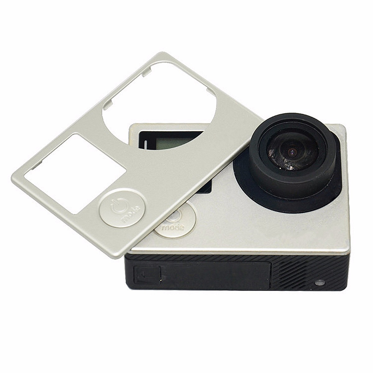 Silver Replacement Front Case Cover Frame Faceplate Repair Part For GoPro Hero 4