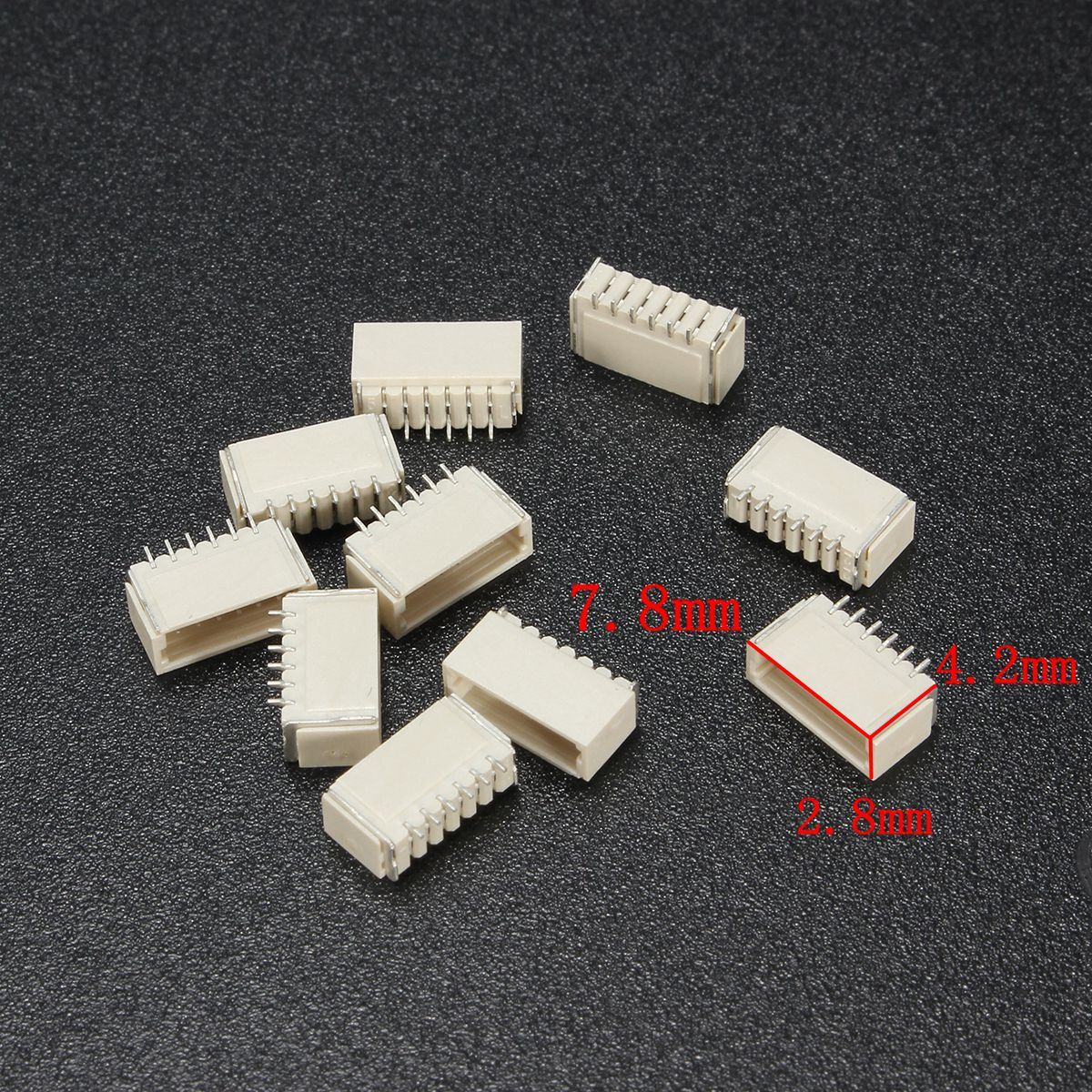 Excellway® 20Pcs Mini Micro JST 1.0mm SH 6-Pin Connector Plug With Wires Cables 150mm