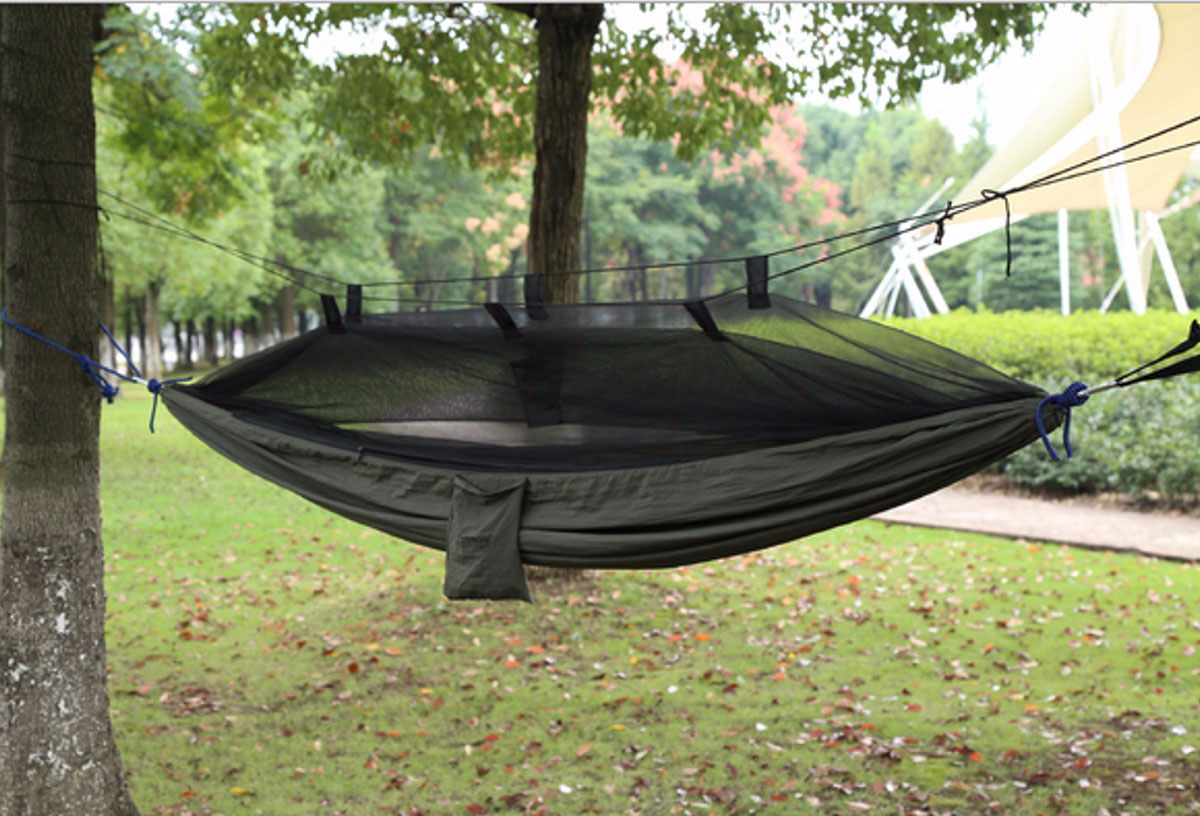 Outdoor Portable Camping Hammock Swing Hanging Sleeping Bed With Mosquito Net