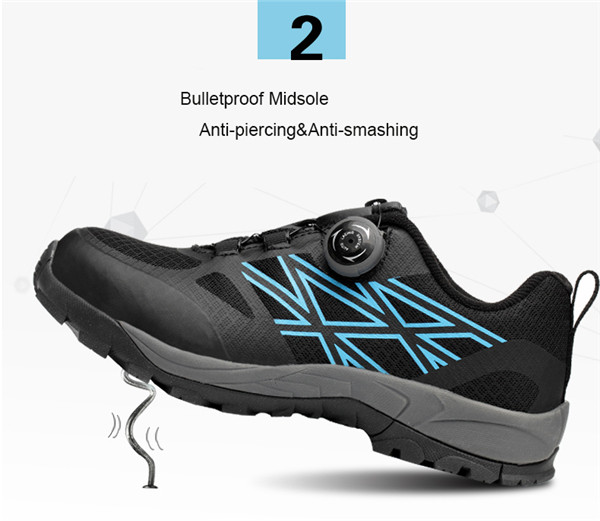 TENGOO Steel Toe Safety Shoes Labor Insurance Shoes Non-Slip Anti-Smashing Outdoor Hiking Work Shoes