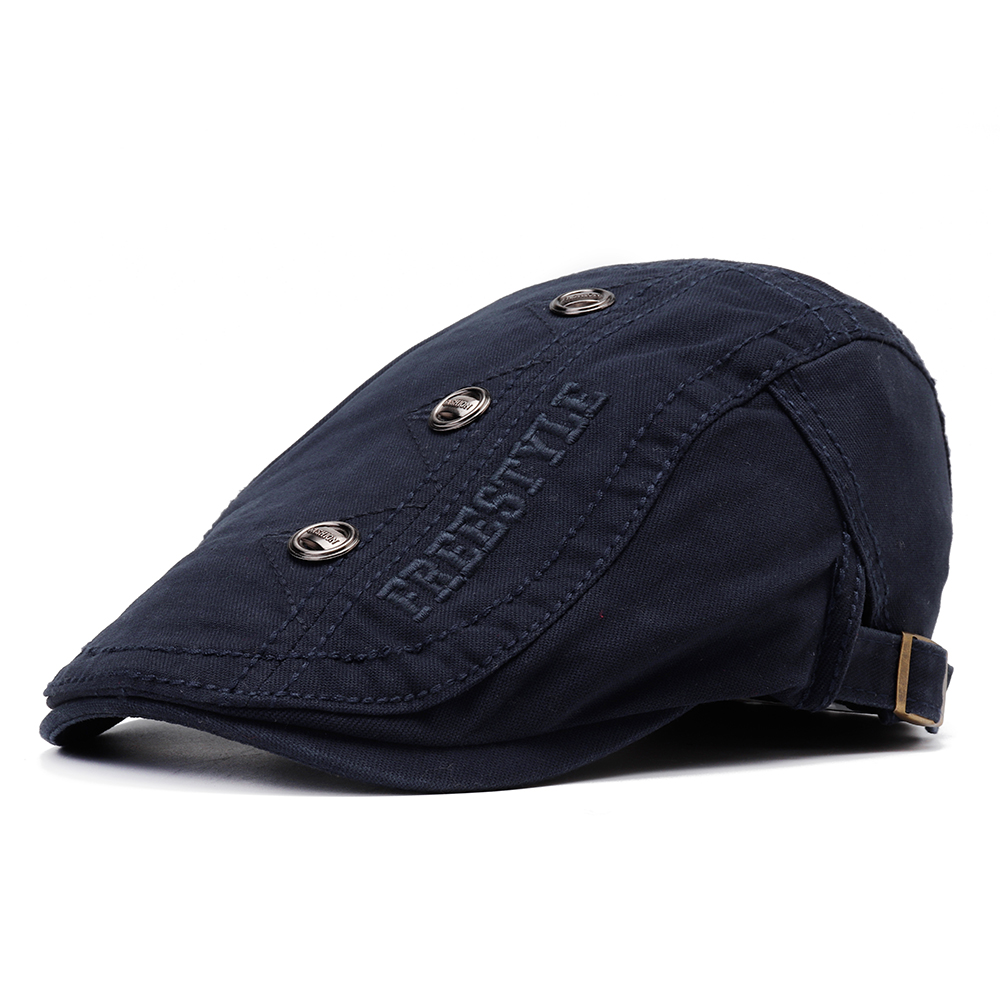 Men Woman Letter Embroidered Beret Cap Forward Hat