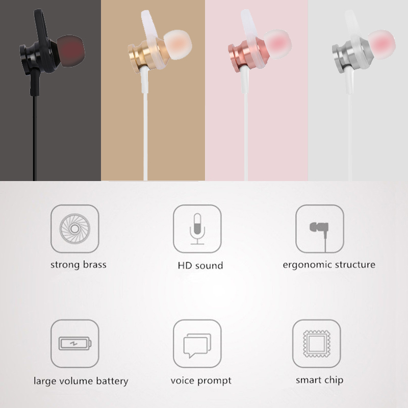 Bakeey™ RS-01 Magnet Wireless bluetooth Earphone Bass Sports Headphone for iPhone X 8 Samsung Xiaomi