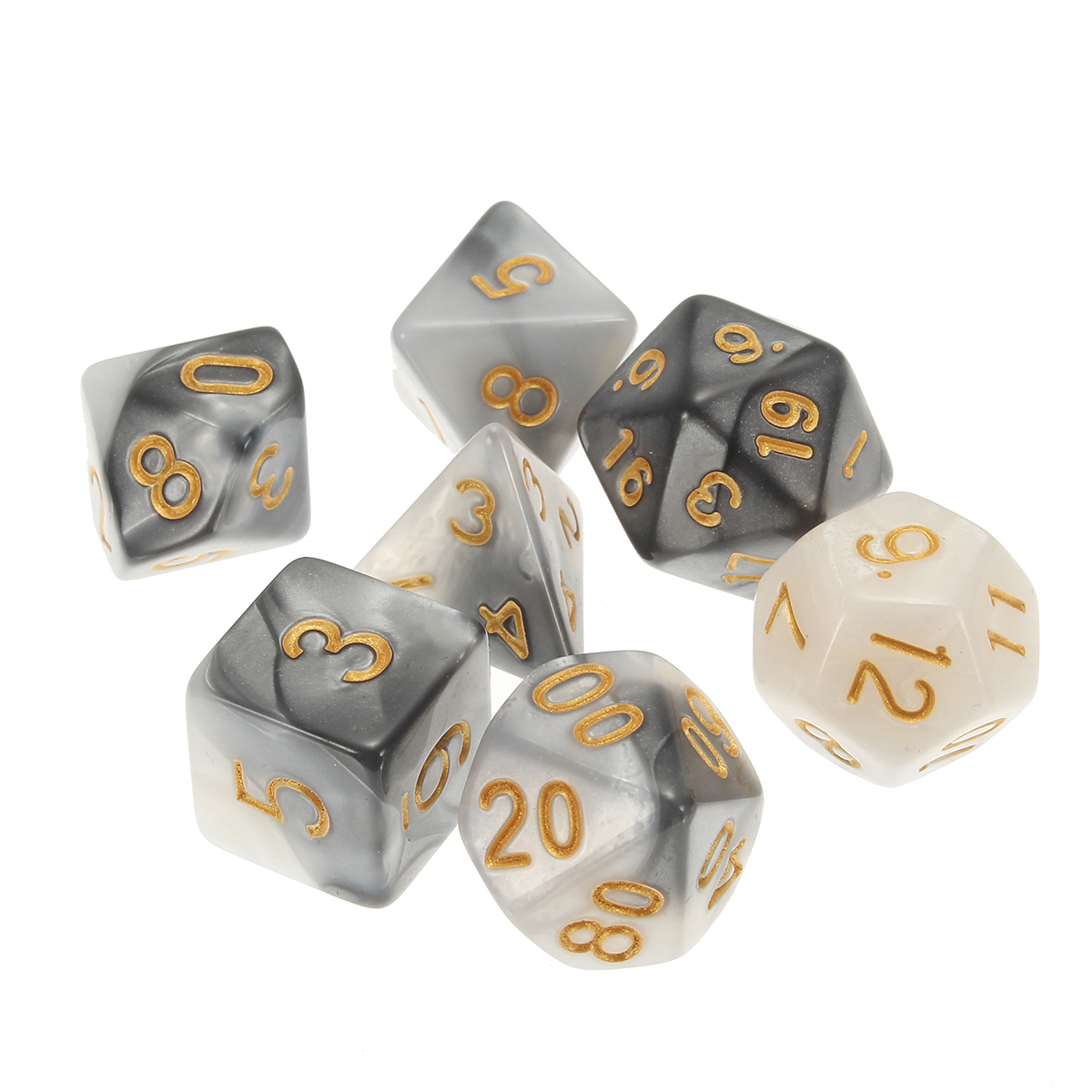 42 Pieces Polyhedral Dice Set Multisided Dices Role Playing Games Gadget