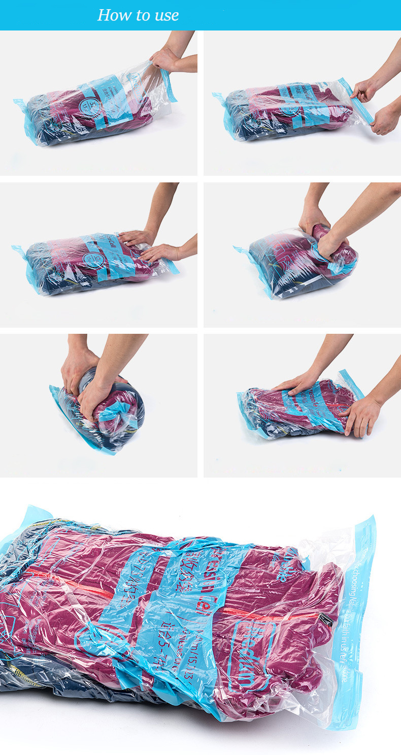 Naturehike Hand Scroll Vacuum Bag Compression Clothes Portable 3 Pcs Travel Storage