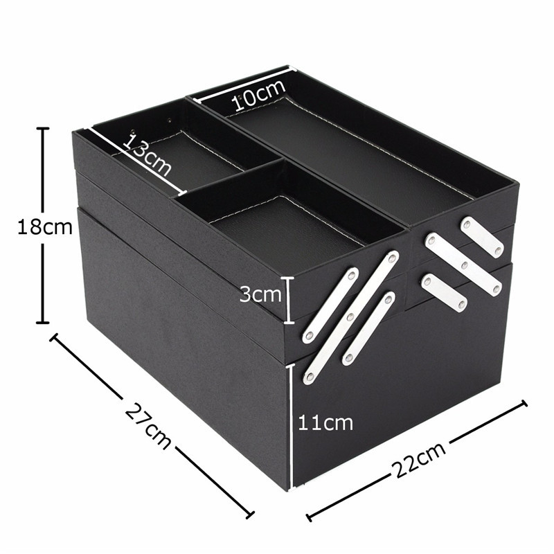 Professional Large Beauty Cosmetic Organizer Box Make Up Storage Hair Salon Travel Case Bag