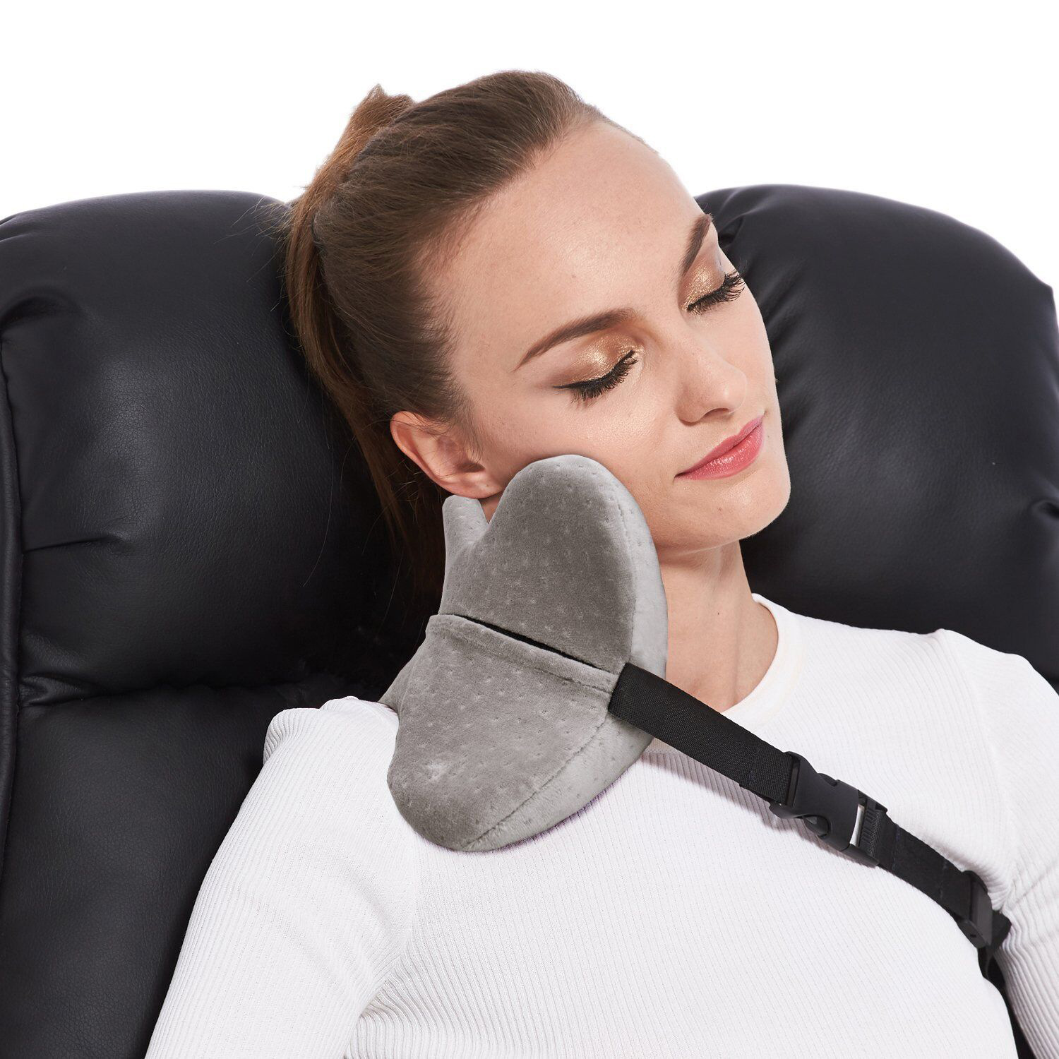 U-shaped Inflatable Aircraft Travel Inflatable Neck Pillow Memory Foam Solid Nostalgia Pillow