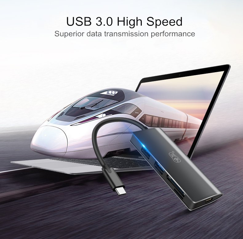 Kawau Type-c to Dual USB 3.0 PD Fast Charge HUB TF Memory Card SD Card Reader for Xiaomi Tablet
